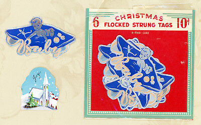 11 Vintage Mid-Century Silver DieCut New Baby Stickers Gum Backed Embossed