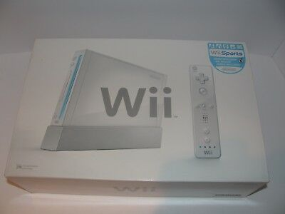 Nintendo Wii Console System In White Complete Wii Sports Game Bundle Tested Box