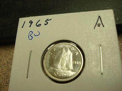 1965 - Canada Silver Dime - Brilliant Uncirculated - Canadian 10 cent coin