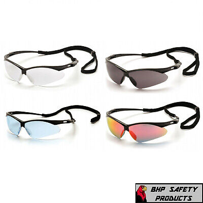 Pyramex Pmxtreme Safety Glasses Sunglasses Sport Work Eyewear With Neck Cord