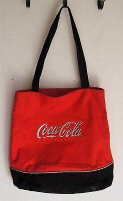 Coca-Cola Tote Bag Red and Black Plastic Lining