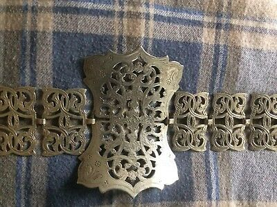 Antique Silver Plated Belt Engraved cos play victorian steampunk Whitby Goth