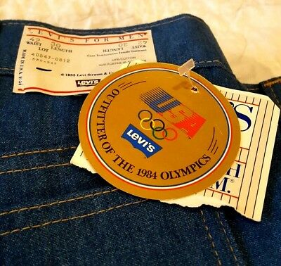 VTG LEVIS Men's NWT ORANGE Tag Dead Stock 1984 Olympic USA Made Skosh More 42x30