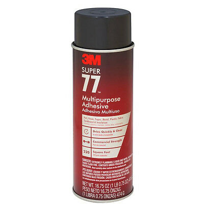 3M Super 77 Multi-Purpose Spray Adhesive 16.75 oz. Quick Dry Clear DIY Bonding