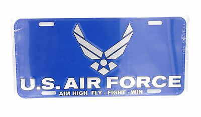 AIR FORCE METAL NOVELTY LICENSE PLATE FOR CARS TAG SIGN US AIR FORCE