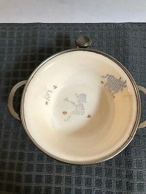 antique child's chafing dish with Little Boy Blue design