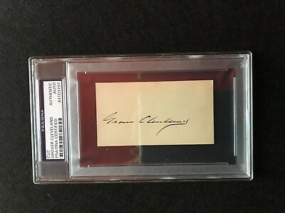 President Grover Cleveland signed cut autograph - PSA authenticated