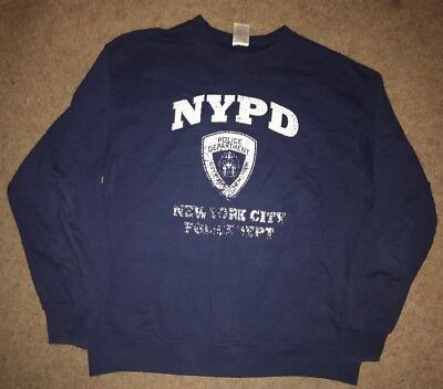 Vintage Nypd New York Police Department Sweater Sweatshirt L Large Nyc