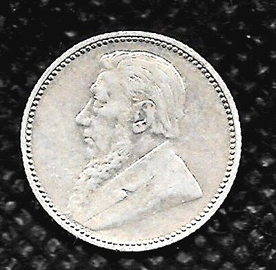 1897 South Africa 6 pence  RARE ZAR VARIETY, UNCIRCULATED, UNGRADED