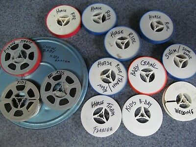 HOME MOVIES 8mm VINTAGE 60's 70's  HORSES,KIDS, VACATIONS..14 TOTAL REELS