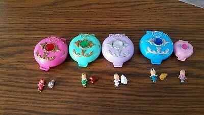 Vintage Polly Pocket Jeweled Lot Complete Forest Pretty Present Locket EUC