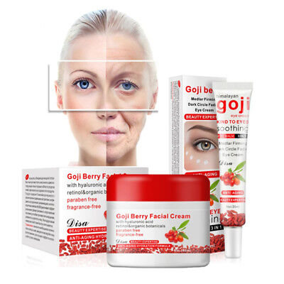 Goji Berry Facial Cream & Eye Cream Face Whitening Skin Care Anti Aging Wrinkle
