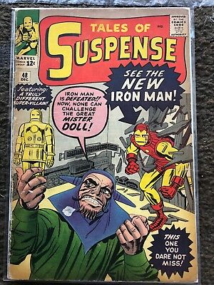 TALES OF SUSPENSE #48 1963 Stan LEE DITKO early NEW IRON MAN Marvel