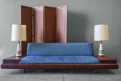 Adrian Pearsall sofa couch model 1709s for Craft Associates with side tables