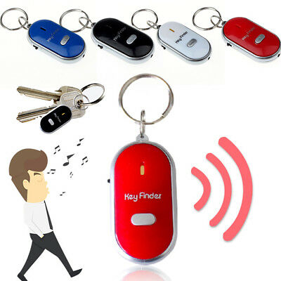 Bright LED Light Torch Remote Sound Control Lost Key Finder Locator Keychain