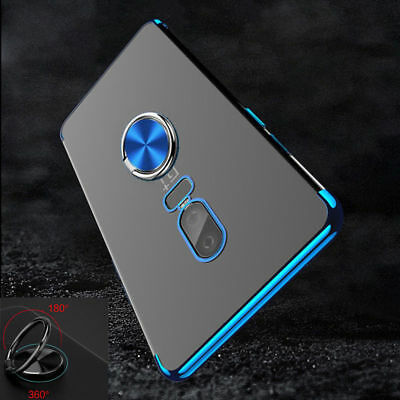 Hybrid Shockproof Plating Case Ring Holder Stand Cover Skin For Oneplus 6T 5T 5