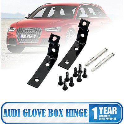 2 Pc Aluminum Glove Box Repair Kit For Audi A4 S4 RS4 B6 B7 8E 2001-2008 Black