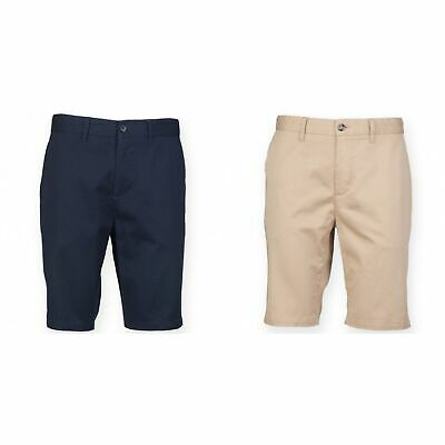 5bb16194d6c Front Row Mens Cotton Rich Stretch Chino Shorts (RW4696)