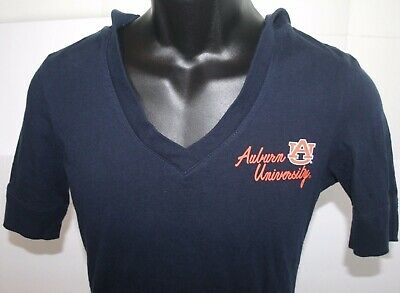 33643ce8481 Colosseum Auburn Tigers Blue Short Sleeve Hoodie Womens Medium Hooded T- Shirt