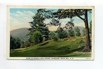 Kearsarge White Mountains NH Russell Golf Course, vintage postcard, 1941