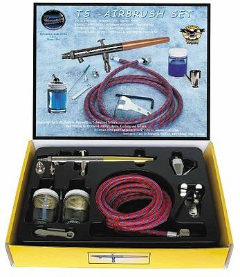Paasche Airbrush Double Action Internal Mix Siphon Feed TS Airbrush Set