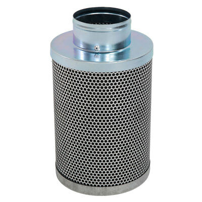 "6"" Hydroponics Air Carbon Charcoal Filter Odor Control Scrubber Stainless Steel"