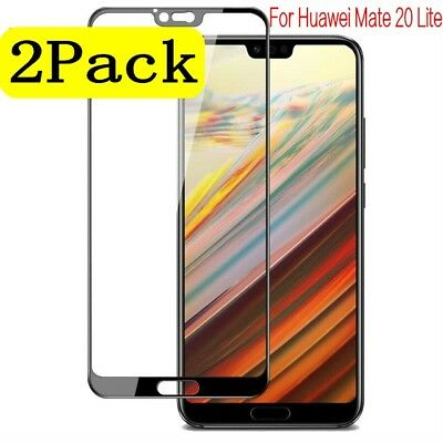 2x 3D Full Cover Tempered Glass Screen Protector Film For Huawei Mate 20 Lite D4