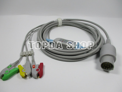 NIHON KOHDEN One-piece 11pin 3lead Defibrillator Cable with Clamp For CARDIOLIFE