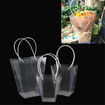 Trapezoidal Packing Bag Transparent Gift Bag Plant packaging Bag With Handle