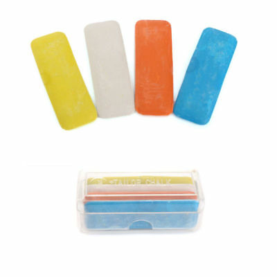 4pcs Tailor's Fabric Chalk Dressmaker Triangle Tailor Fabric Chalk 4 Colors