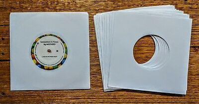 "50 x NEW WHITE PAPER VINYL RECORD SLEEVES FOR SINGLES EP 45'S OR 7"" VINYL 20lb"
