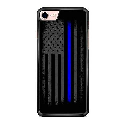 Vertical Thin Blue Line Amer Case Phone Case for IPhone & Samsung LG GOOGLE IPOD