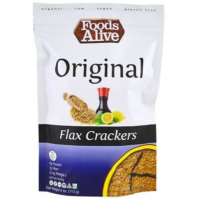 Foods Alive Flax Crackers Original 4 oz (113 g)