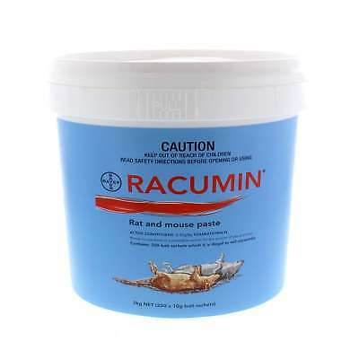 Racumin Rat and Mouse Paste Bait 200 Sachets Coumatetralyl Bayer 2kg