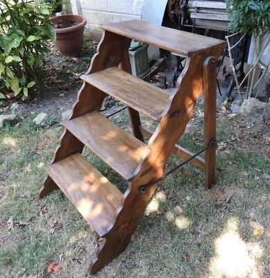 Vintage Victorian Wooden Step/Library Ladders