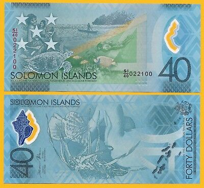 Salomonen Solomon Islands 40 Dollars p-new 2018 Commemorative UNC UNZ