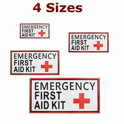 1/2/6x First Aid Sticker Label Vinyl Decal Red Cross Sign Health Safe Emergency