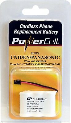 Powercell CTB07 3.6v Nicad 400mah Battery Suits Panasonic / Uniden Phone