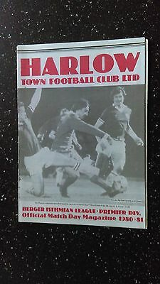 Harlow V Charlton Athletic 1980-81