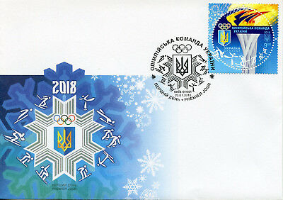 Ukraine 2018 FDC Winter Olympics PyeongChang 2018 1v Set Cover Sports Stamps
