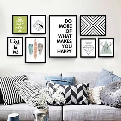 Abstract Wall Art Diy Animal Letter Geometry Poster Canvas