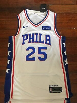 best website c7673 d3108 NBA BEN SIMMONS Philadelphia 76ers #25 Home Jersey White Size Large 50