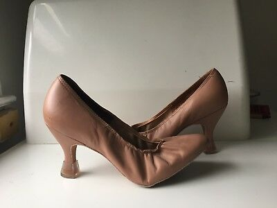 Pre-owned Leather Ballroom Dance Shoes, Size US 6 1/2M