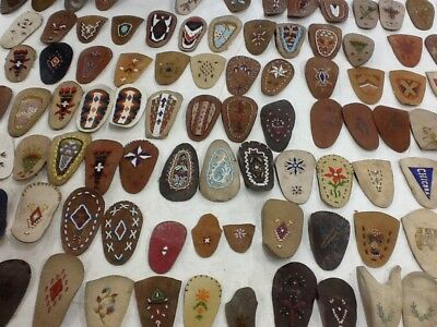 Beaded Moccasin Plugs, 1910 - 1960 Native American Indian 375 Patterns