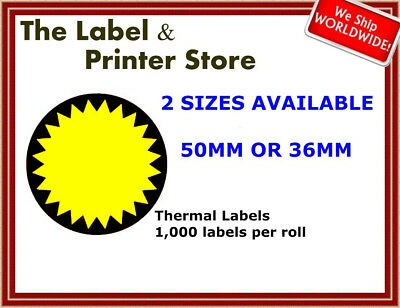 Black & Yellow Circle Flash Labels