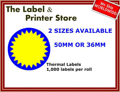 Blue & Yellow Circle Flash Labels