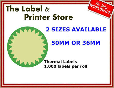 Green & Cream Circle Flash Labels