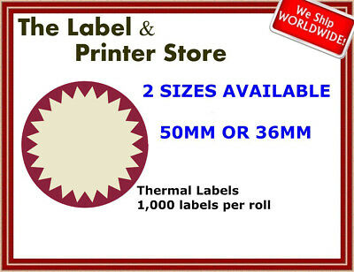 Red & Cream Circle Flash Labels
