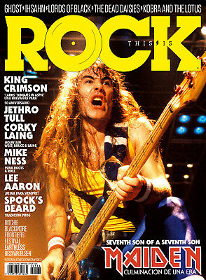 This is Rock Magazine Spain Issue 168 June 2018 STEVE HARRIS COVER IRON MAIDEN