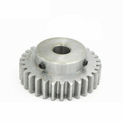 1.5Mod 80T Motor Gear 45# Steel Spur Gear Bore 10-20mm With Grub Screws x 1Pcs